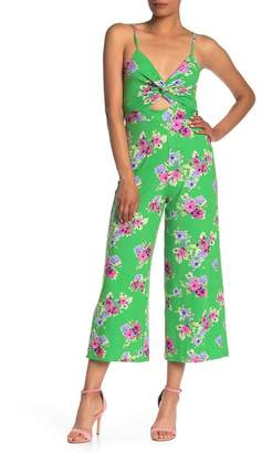 Velvet Torch Floral Twist Front Jumpsuit