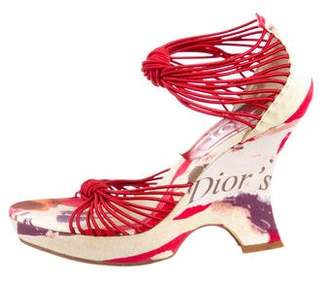 Christian Dior Multistrap Platform Wedges