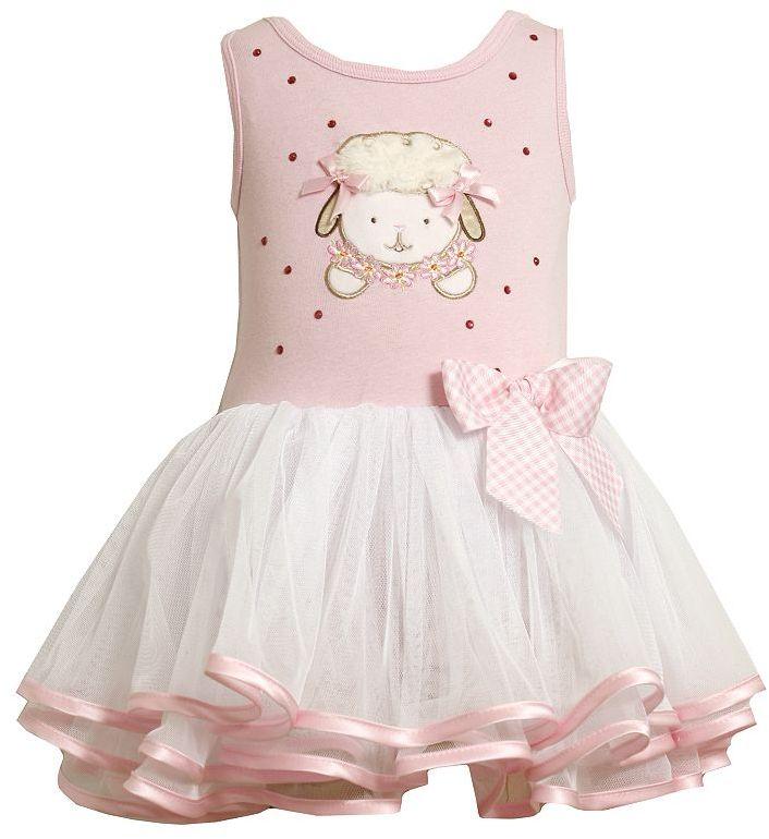 Bonnie Jean lamb easter tutu dress - toddler