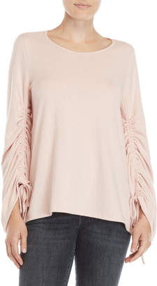 Vince Camuto Ruched Sleeve Sweater