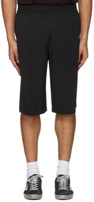 MSGM Black Striped Track Shorts $415 thestylecure.com