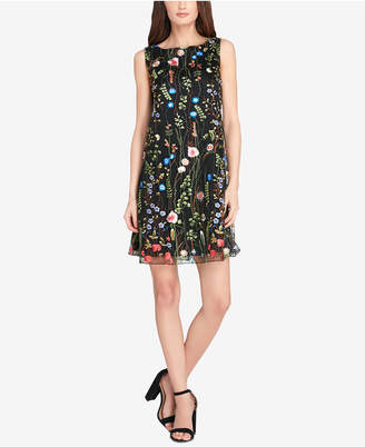 Tahari ASL Floral Embroidered Shift Dress