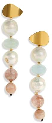 Lizzie Fortunato Pearl Pastel Column Earrings