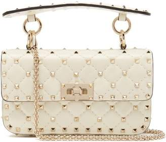 90587d7825b5 Valentino Rockstud Spike Small Quilted Leather Shoulder Bag - Womens - Ivory