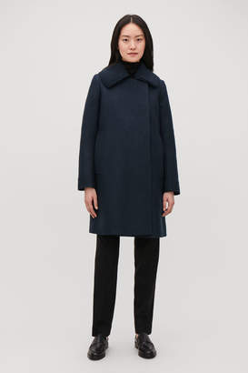 Cos KNITTED-COLLAR WOOL COAT
