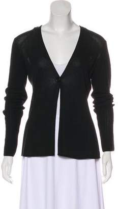 Giorgio Armani Paneled Long Sleeve Cardigan