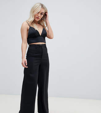 Missguided Petite tailored wide leg in black