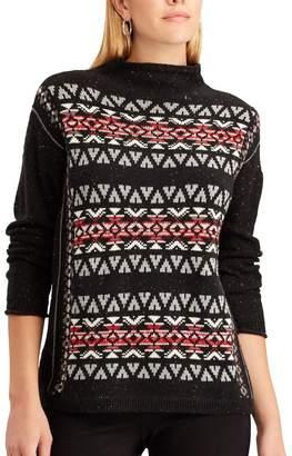 Chaps Women's Fairisle Mockneck Sweater