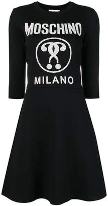 Moschino fit-and-flare dress