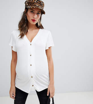 New Look Maternity Button Through Tee