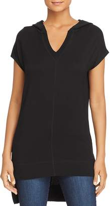 Andrew Marc Performance Hooded High/Low Tunic Top