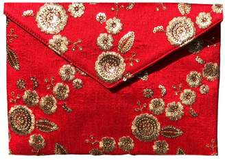 Simitri - Floral Red Envelope Clutch