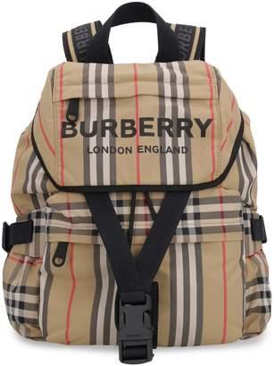 Burberry Printed Nylon Backpack