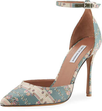 Tabitha Simmons Alhambra Jacquard Ankle Pumps