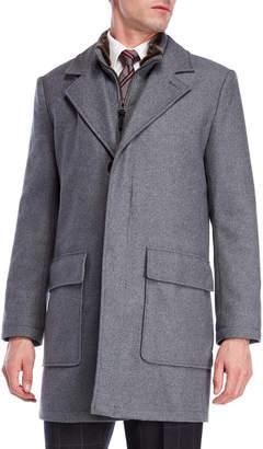 Cole Haan Faux Fur-Lined Long Wool Topper