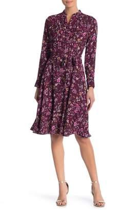 Nanette Lepore NANETTE Floral Belted Crepe Dress