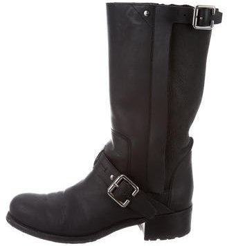 Christian Dior Distressed Mid-Calf Boots