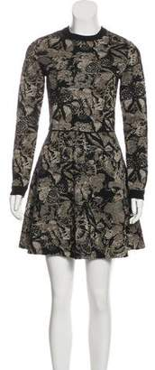 Valentino Jacquard A-Line Dress