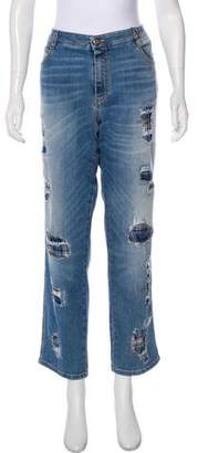 Ermanno Scervino High-Rise Embellished Jeans w/ Tags