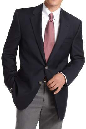 Michael Kors The Suit Depot Modern Fit Solid Navy Two Button Wool Blazer Sportcoat