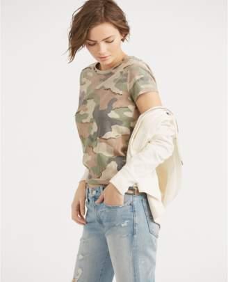 Polo Ralph Lauren Sequined Camo Cotton T-Shirt