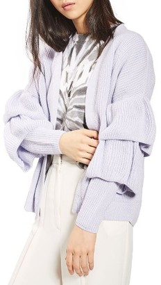 Women's Topshop Ruffle Sleeve Cardigan $85 thestylecure.com
