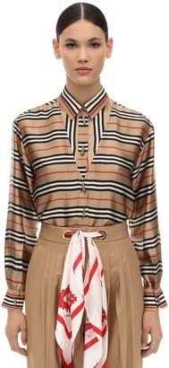 Burberry Printed Silk Shirt
