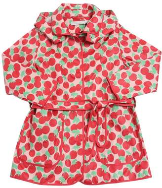 Stella McCartney Cherry Printed Cotton Canvas Rain Coat