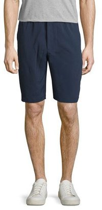 Theory Plymouth NC Forged Linen Shorts $185 thestylecure.com