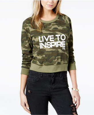 Boy Meets Girl Cotton Live To Inspire Cropped Sweatshirt