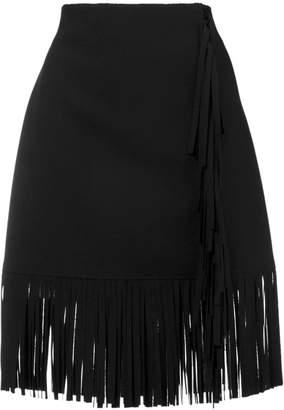 MSGM short fringe skirt
