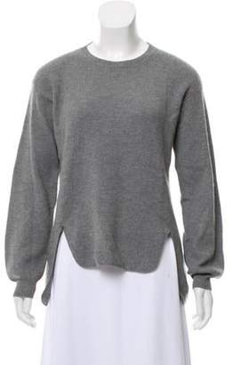 Stella McCartney Virgin Wool Semi-Sheer Sweater Grey Virgin Wool Semi-Sheer Sweater