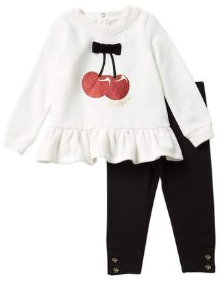 Kate Spade cherries sweater & leggings set (Baby Girls)