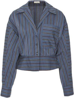 Temperley London Nori Striped Cotton Blouse