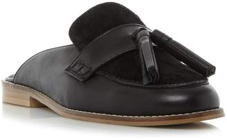 Dune LADIES GEEN - Backless Flat Loafer Shoe
