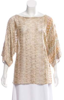 Missoni Metallic Knit Top