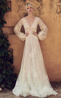 Costarellos Bridal Embroidered Lace Ethereal Gown