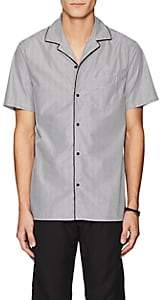 Officine Generale MEN'S STRIPED COTTON POPLIN CAMP SHIRT
