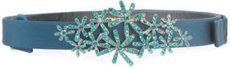 Oscar de la Renta crystal-embellished skinny belt