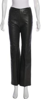 Oscar de la Renta High-Rise Leather Pants