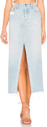 GRLFRND Isla High-Rise Midi Skirt.