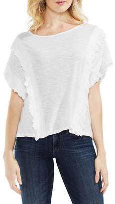 Vince Camuto Ruffled Dropped Shoulder Top