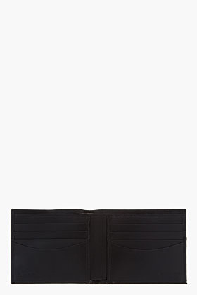 Paul Smith black Crinkled leather Honeycomb Bifold wallet