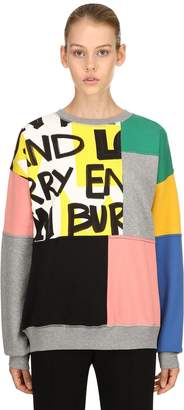 Burberry Patchwork Cotton Jersey Sweatshirt