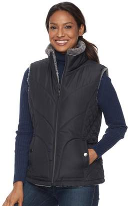 KC Collections Women's Quilted Reversible Vest