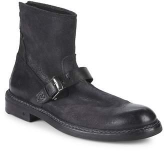 John Varvatos Men's Ellis Back Zip Moto Ankle Boots