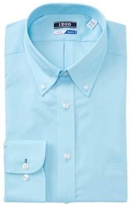 Izod Solid Twill Regular Fit Dress Shirt