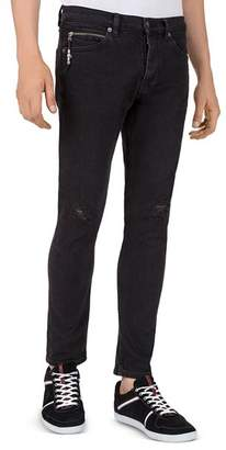 The Kooples Cropped XX Fit Jeans in Black