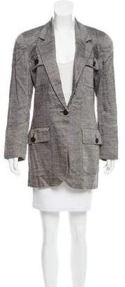 Christian Dior Woven Notch-Lapel Coat