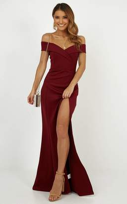 Showpo One For The Money dress in wine - 6 (XS) Occasion Dresses